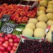 Shop counter with fruits — Stock Video