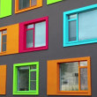 Stock Video: Varicoloured windows