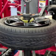 Stock Video: Tyre fitting