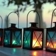 Four candle lamps — Video Stock
