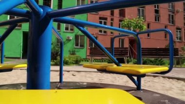 Childrens playground — Stok video