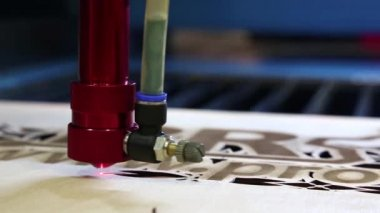 Programmable laser cutting — Stock Video