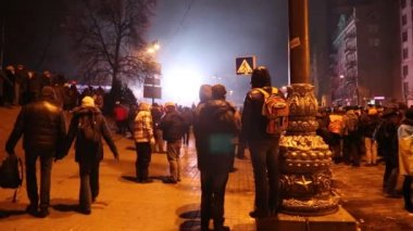 UKRAINE, KIEV, JANUARY 19, 2014: Anti-government protest in Kiev, Ukraine — Stock Video