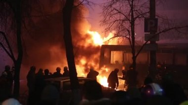 Ucraina, Kiev, 19 gennaio 2014: Anti-governo protesta a Kiev, Ucraina — Video Stock
