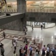 People inside Syntagma metro station — Stock Video
