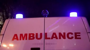 Ambulance car — Stockvideo