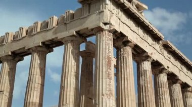 Parthenon - ancient temple in Athens, Greece — Stock Video
