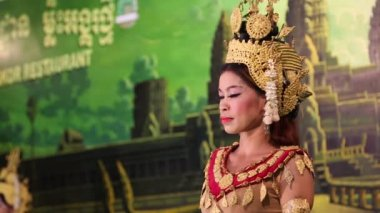 Traditional Apsara dance — Stock Video