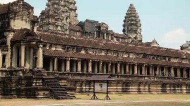 Angkor Wat temple, Siem Reap, Cambodia — Stock Video