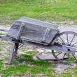 Stock Photo: Old Wooden Wheelbarrow