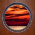 Sunset Through Porthole — Stock Photo #18650971