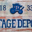 Stock Photo: Stagecoach Sign