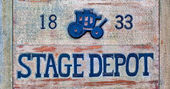 Stagecoach Sign — Stock Photo
