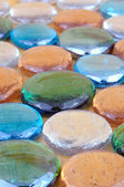 Glass pebbles — Stock Photo