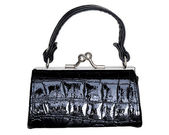 Black purse — Stock Photo