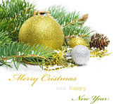 Christmas greetings card — Stock Photo
