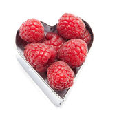 Fresh raspberries — Stock Photo