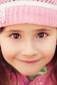 Girl with big brown eyes — Foto de Stock