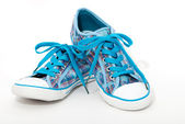 Blue sneakers — Stock Photo