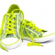 Yellow sneakers — Stock Photo #7386677