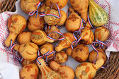 Painted dried gourds — Stock Photo