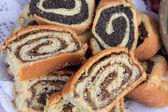 Poppy seed and walnut rolls — Stock Photo