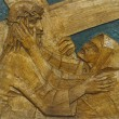 4th Station of the Cross - 图库照片