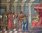 Jesus diante de pôncio pilatos — Fotografia Stock
