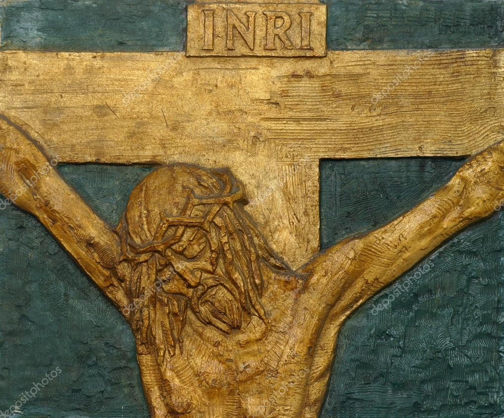 12th Stations of the Cross, Jesus dies on the cross — Stock Photo #14002230