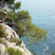 Pictorial blue Adriatic sea with rocks — Stock Photo