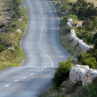 Stock Photo: Asphalt winding road, Island of Pag, Croatia.