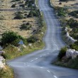 Asphalt winding road, Island of Pag, Croatia. — Stock Photo