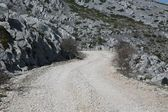 Road on mountain Velebit - Croatia — Stock Photo