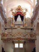 Majestic old organ in Dubrovnik cathedral — Stock Photo