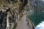 Pathway in Plitvice Lakes national park in Croatia — Stock Photo