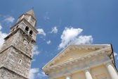 Church in the city Visnjan, Istria, Croatia — Stock fotografie