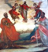 Christ in heaven apostolic leaders — Stock Photo