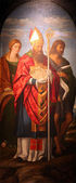 Die Heilige Katharina von Alexandria, St. Quirinus und Johannes der Täufer — Stockfoto