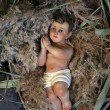A baby Jesus figure on Christmas — Stock Photo