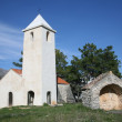 Beautiful small rural church in Croatia - Stock Photo