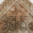 Medieval stone cross - Stock Photo