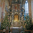 View of the altar in Christmas time — Stock Photo