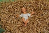 Un bebé jesús figura en navidad — Foto de Stock