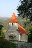 Beautiful small rural church in Croatia — Foto de Stock
