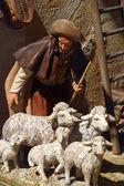 Scène de la nativité, l'adoration des bergers — Photo