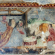 Nativity Scene, Fresco paintings in the old church — Stock Photo #14250231