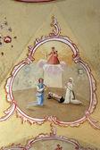 教堂的天花板上的壁画 — 图库照片