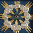 Stock Photo: Christian religious symbol - all-seeing eye