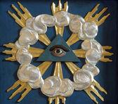 Christian religious symbol - all-seeing eye — Stock Photo