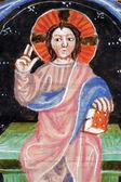 イエスは、古い聖書本のクローズ アップ — ストック写真